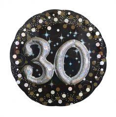 Ballon Métallique Hélium - 30 ans