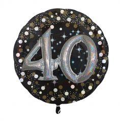 Ballon Métallique Hélium - 40 ans