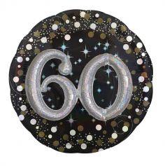 Ballon Métallique Hélium - 60 ans