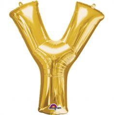 Mega Ballon Hélium - Lettre Y - Or