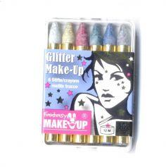 Boite de 6 crayons à maquillage pailletés