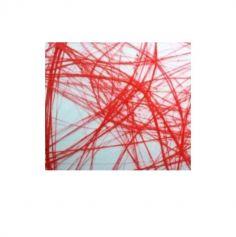 Chemin de Table Intissé 30 cm x 25 M - Rouge - Vagues