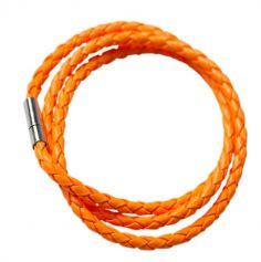 Bracelet tressé fluo - Orange