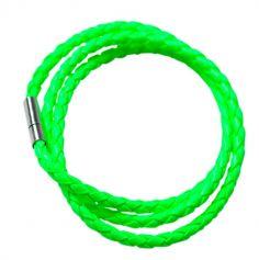 Bracelet tressé fluo - Vert