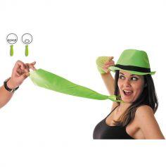 Cravate satinée - Vert fluo