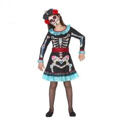 Déguisement Day Of The Dead Fille - Taille au Choix