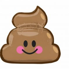 Ballon Hélium Emoji poop
