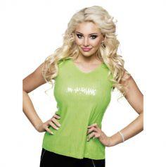 Top à sequins Femme - Vert fluo - Taille M