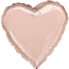 Ballon à air Coeur Métallique Rose Cuivré