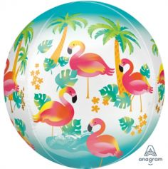 Ballon Hélium Tropical Flamants Roses
