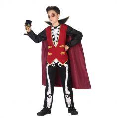 Déguisement Vampire Squelette Garçon - Taille au Choix