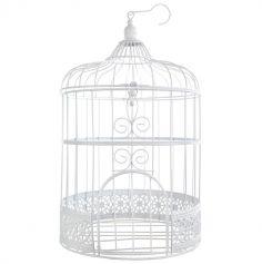 Urne cage à oiseaux - Blanche
