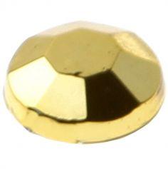 160 Perles Strass Autocollantes - Or