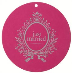 Marque Place Ronds Just Married 10 cm - Fuchsia