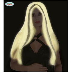 Perruque Halloween Phosphorescente - Cheveux Longs