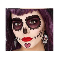"""Boucle d'Oreilles """"Day of the Dead"""" - Rose"""