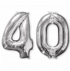 Ballons Hélium - 40 ans - Argenté