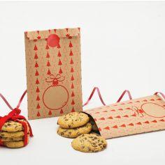 """8 Sachets Kraft - Collection """"Red Christmas"""""""