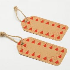 """6 Etiquetts Kraft - Collection """"Red Christmas"""""""