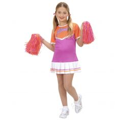 Costume de Pom-Pom Girl Enfant - Rose/Orange 5-6 ans