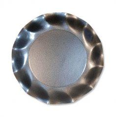 Grandes assiettes vagues x10 - Gris perlé