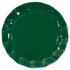 10 grandes assiettes Ondulées - Vert Sapin