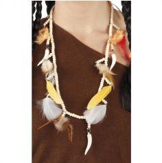 Collier Indien de perles et plumes