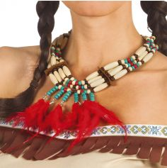 Collier à plumes - Costume indien