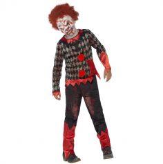 Déguisement Garçon - Clown Zombie avec Masque - Taille au Choix