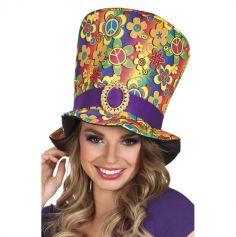 Chapeau haut de forme Hippie