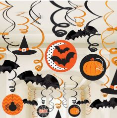 "Pack de 30 décorations à suspendre - Collection ""Pumpkin"""