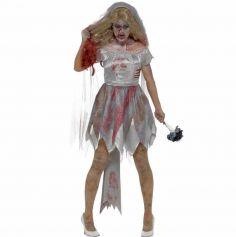 Déguisement de zombie mariée femme