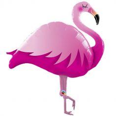 ballon-flamant-rose-exotique-tropiques | jourdefete.com