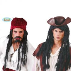 Perruque de Pirate Tresses Noires