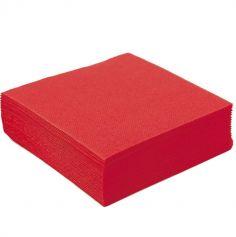 50 Serviettes Microgaufrées - Rouge