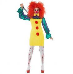Déguisement Femme - Penny le Clown - Taille au Choix