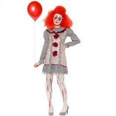 Déguisement Femme - Clown Vintage - Taille au Choix