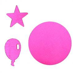 Confettis Fuchsias Anniversaire - Etoiles et Ballons