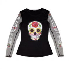 Tee-Shirt Day of the Dead Femme - Taille Unique