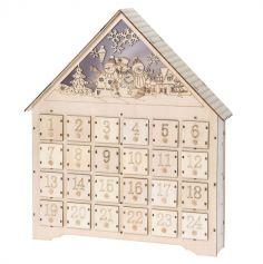 calendrier-de-lavent-noel-bois-maison-led|jourdefete.com