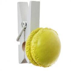 4 Pinces Macaron - Jaune