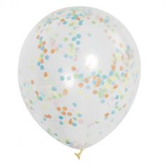 6 Ballons multicolores à confettis