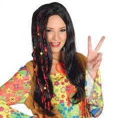 Perruque Hippie Brune pour Femme