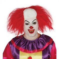 Perruque Crâne de Clown et Cheveux Rouge