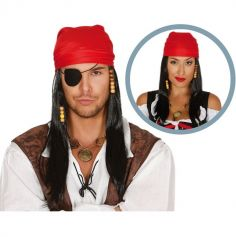 Perruque Pirate avec Foulard Adulte