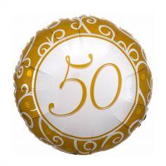 ballon aluminium 50 ans mariage noces or | jourdefete.com