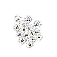 50 Confettis de table Bonne Année - 5 cm