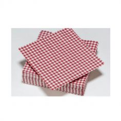 Lot de 50 Serviettes Carreaux Vichy | jourdefete.com