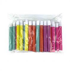 50 sarbacanes unies multicolores    jourdefete.com