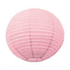 Lanterne japonaise en papier rose vintage - 50 cm